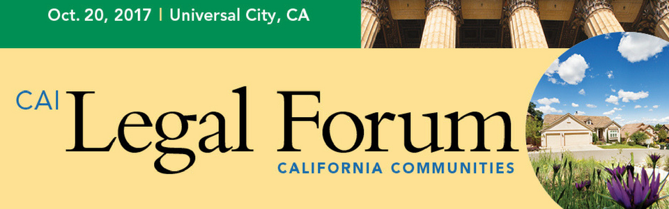 CAI Legal Forum | California Communities